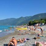 Пляжи курорта Гагра